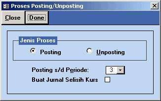 Menu Posting/unPosting